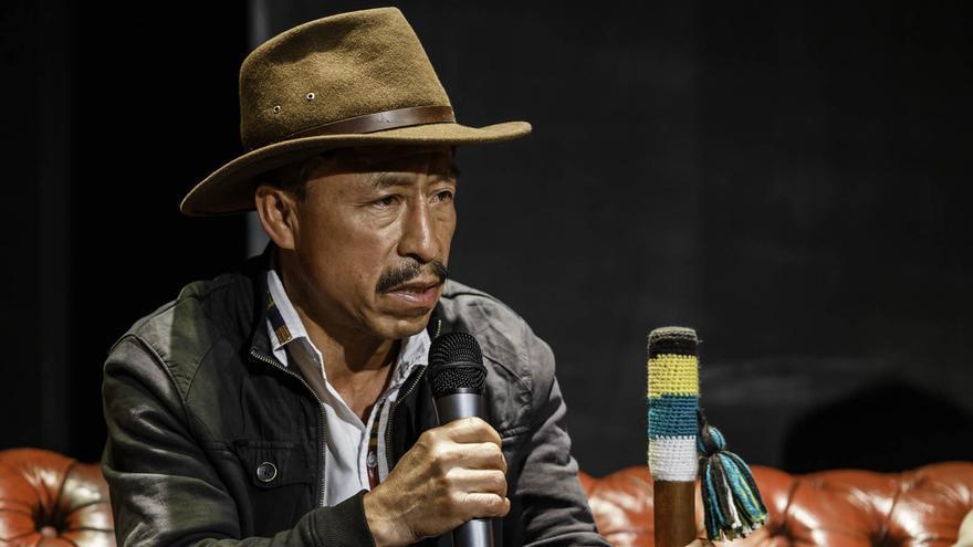 El líder indígena Pascual Bernabé Velázquez en la presentación de la campaña 'Valiente', de Amnistía Internacional.