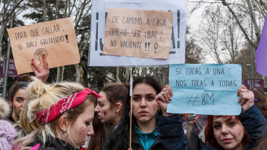 Manifestación contra la violencia de género.