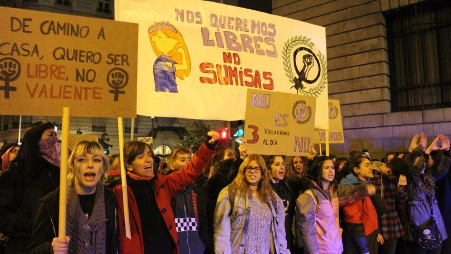 Un momento de la concentración en Madrid / MB