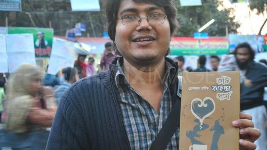 El bloguero Asif Mohiuddin. Imagen de Siam Sarower Jamil. Copyright Demotix (10/2/2013)