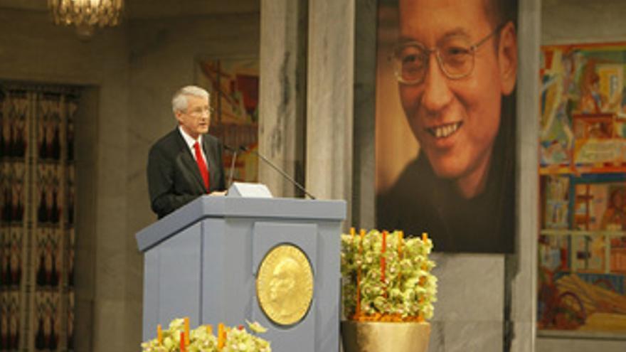 El presidente del Comité Noruego del Premio Nobel de la Paz, Thorbjoern Jagland.