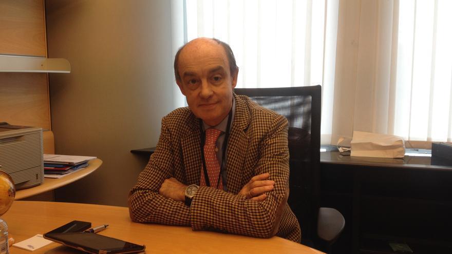 Fernando Maura (UPyD) en su despacho en el Parlamento Europe