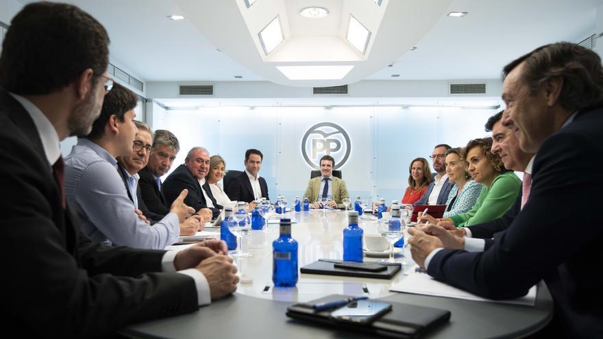 Reunión del Comité de Dirección del PP de este lunes.