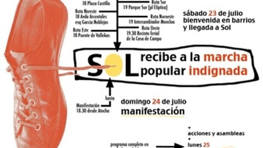 Cartel Marcha Indignada En Madrid
