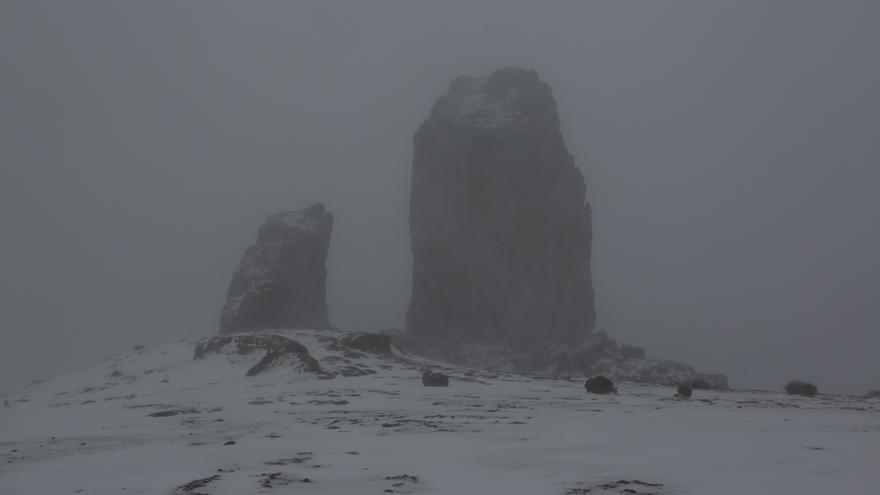 Nieve en el Roque Nublo
