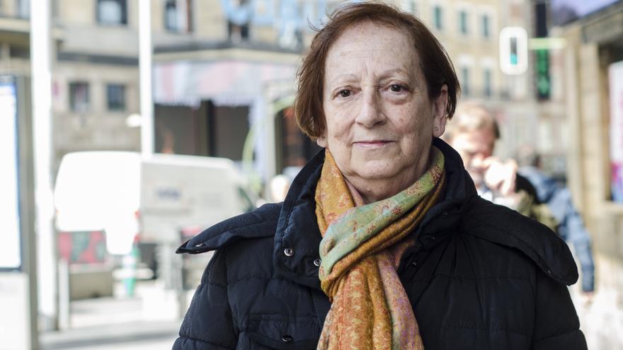 Amparo Grolimund, pensionista y miembro de los yayoflautas.