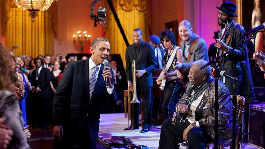 Obama, B.B. King y unos amigos.