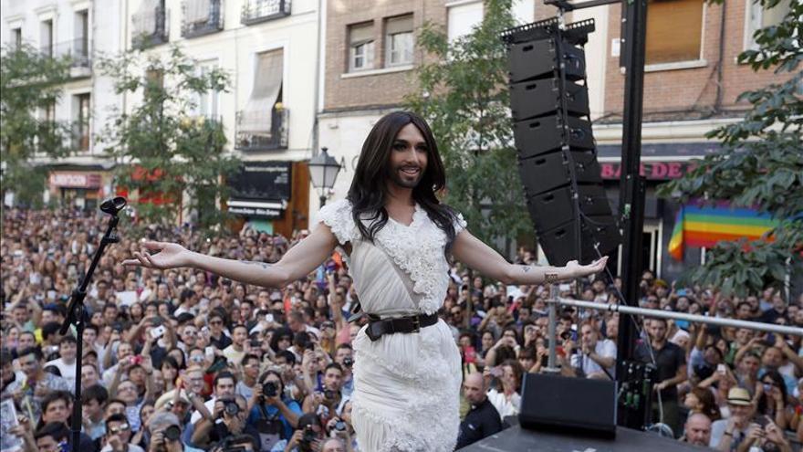 Conchita Wurst, Marta Sánchez y Fangoria, en un festival orgulloso