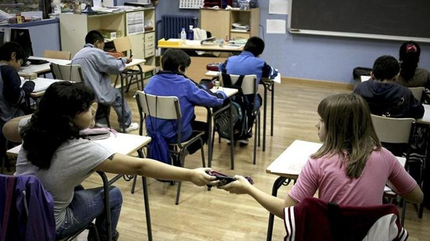 Alumnos en una clase de Primaria.