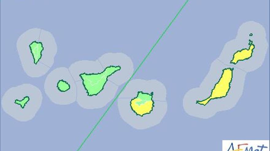 Aviso amarillo por calima en Canarias este martes