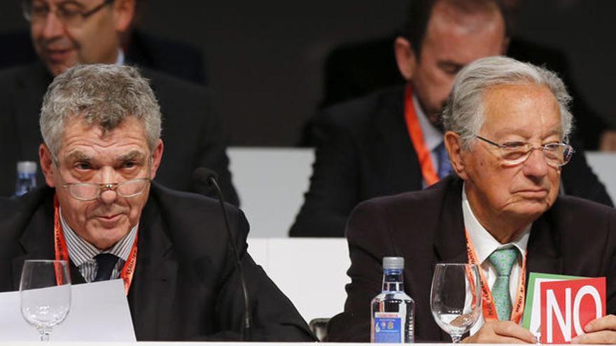 Ángel Villar y Juan Padrón, en una imagen de archivo