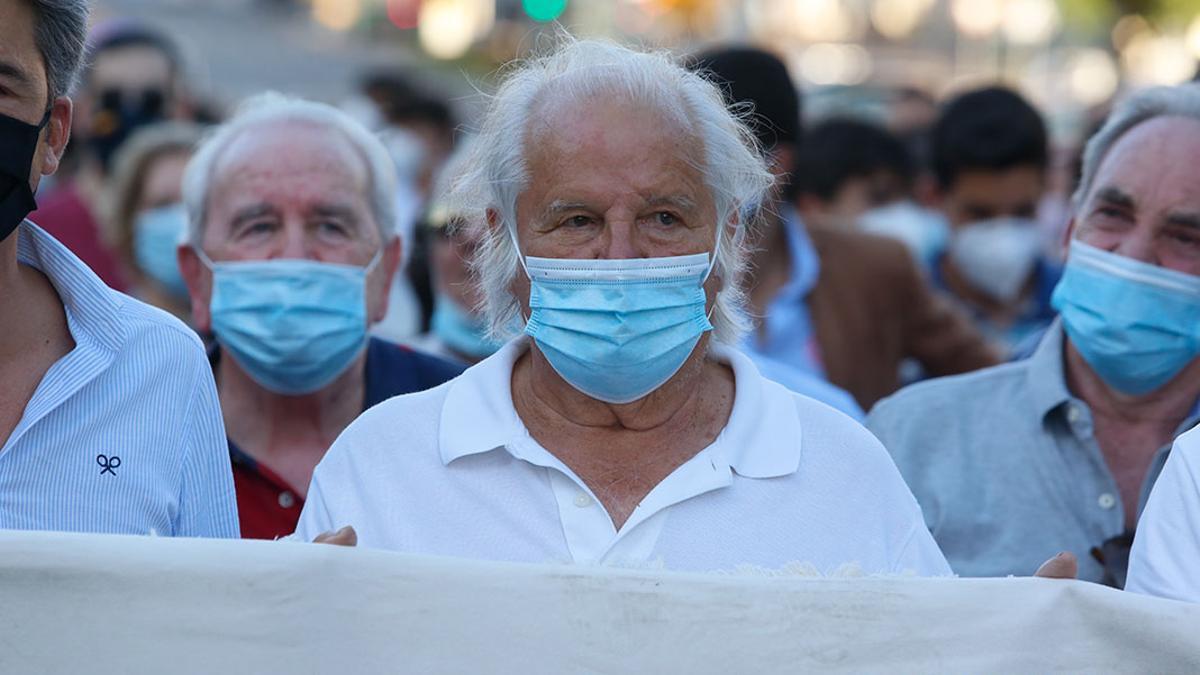 El Cordobés, el pasado mes de junio de 2020 durante la manifestación taurina