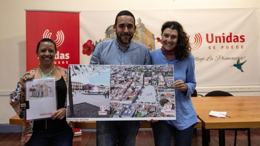 Rubens Ascanio y María José Roca (derecha), en la presentación de este miércoles en La Laguna