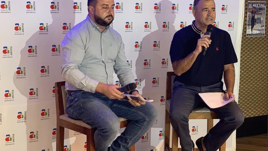 Alberto Hernández y Víctor Reverón, en la presentación de la prueba