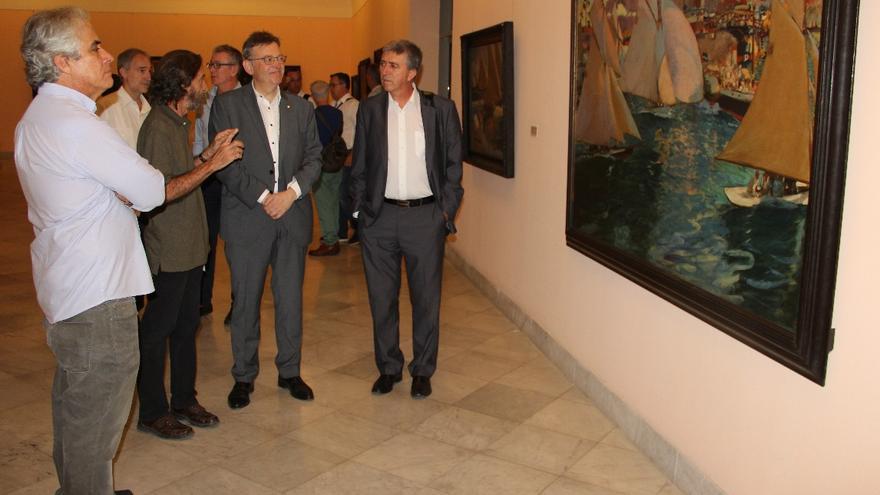 Ximo Puig ha visitado la colección de obras de Sorolla en el Museo Nacional de Bellas Artes
