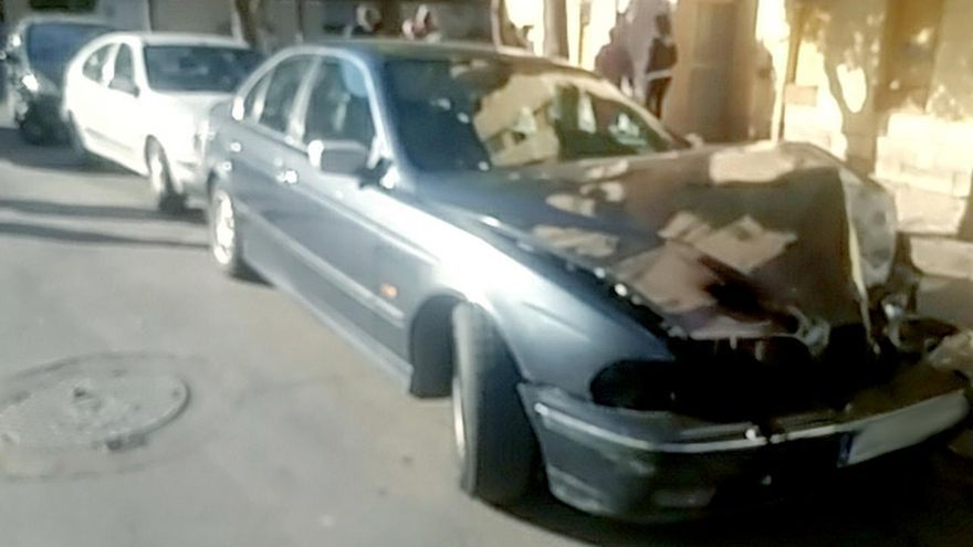 El turismo interceptado por la Policía Local de Murcia