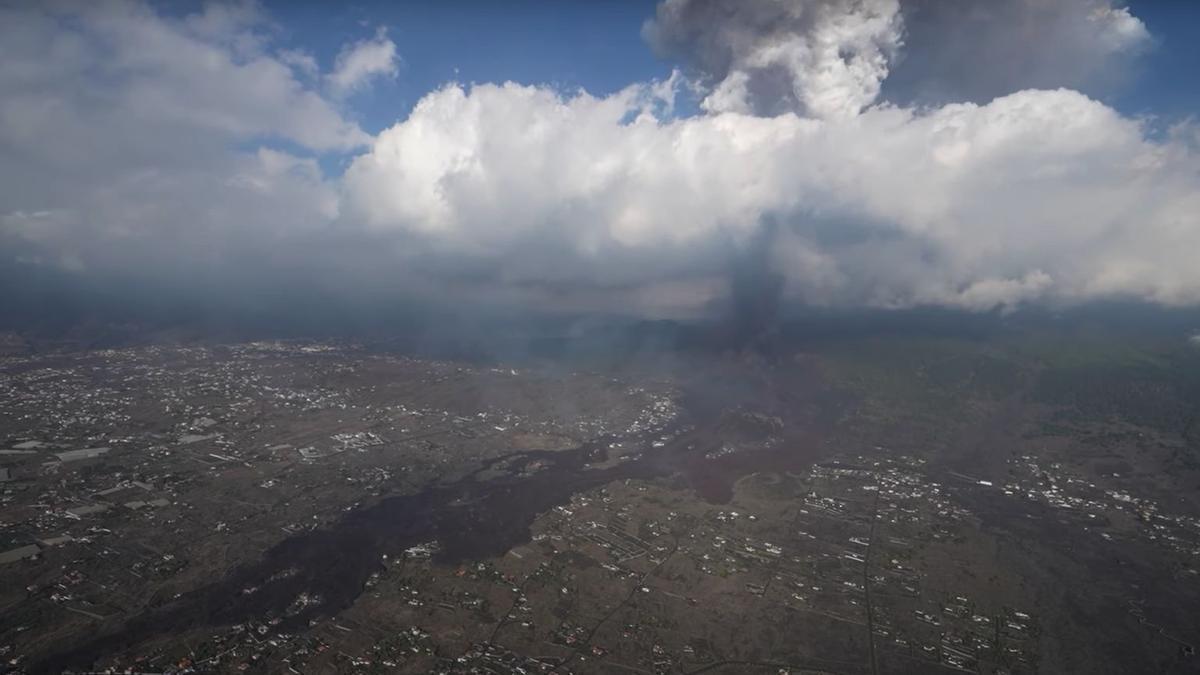 Las coladas de lava del volcán de La Palma.