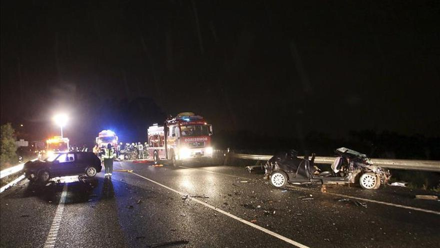 Seis fallecidos y diez heridos en las carreteras el fin de semana