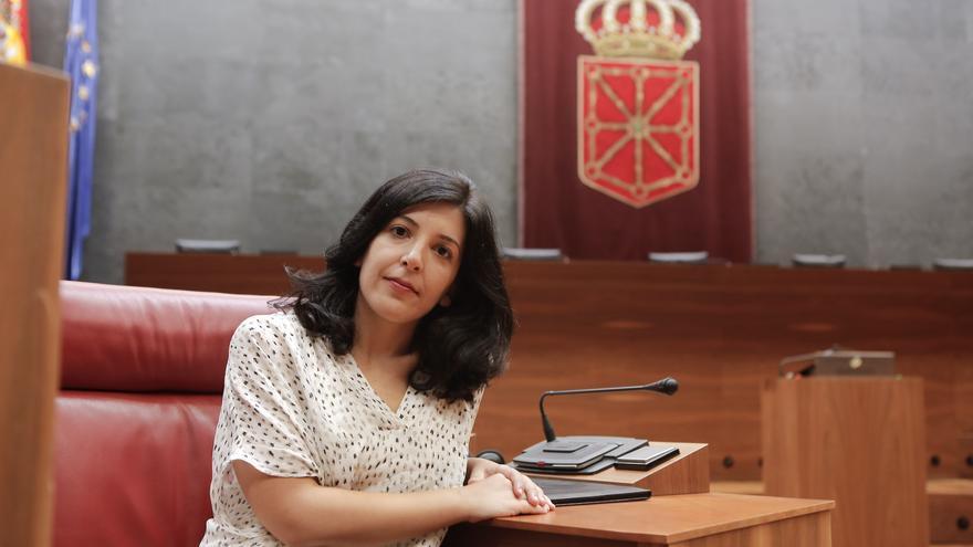 La nueva senadora autonómica elegida por el Parlamento foral, Idoia Villanueva / Foto: Parlamento de Navarra, Adolfo Lakunza.