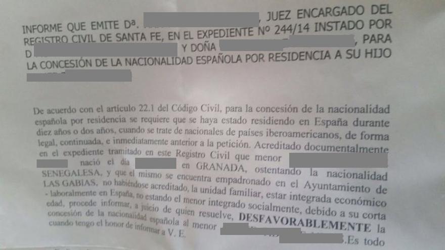 El informe del juzgado de Santa Fe.