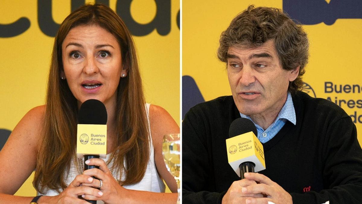 La ministra de Educación de CABA, Soledad Acuña, y el titular de Salud, Fernán Quirós