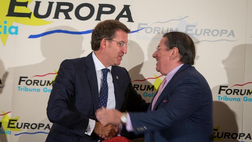 Feijóo y Vázquez, este lunes en Santiago / Xoán Crespo