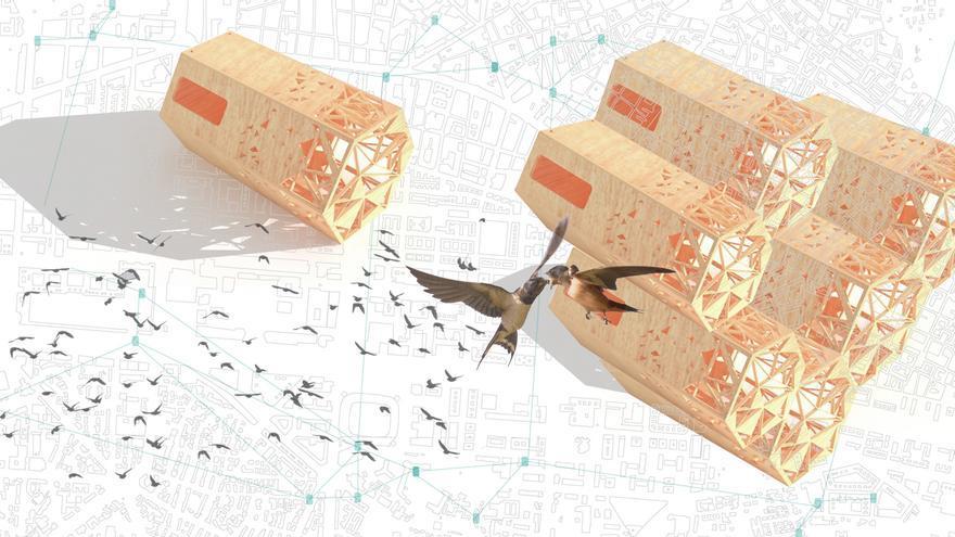 Proceso de elaboración del prototipo de casas de gorriones para la ciudad. Vivero de Iniciativas Ciudadanas (VIC)