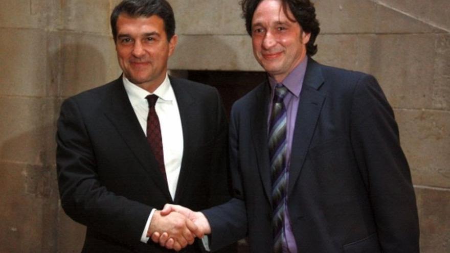 Joan Laporta y Jordi Portabella, líder saliente del grupo municipal de ERC en Barcelona