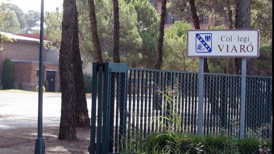 Entrada del colegio Viaró Global School de Sant Cugat del Vallès