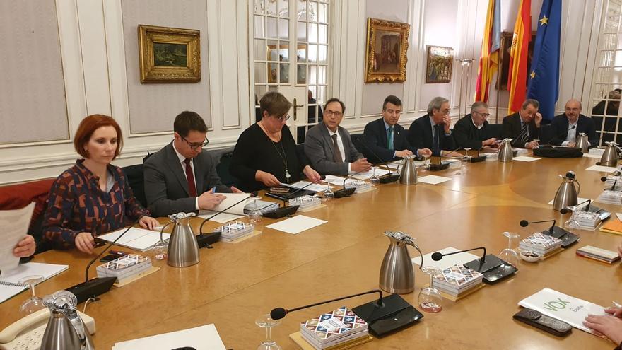 Reunión del Gobierno Valenciano y las Corts para preparar el CPFF.