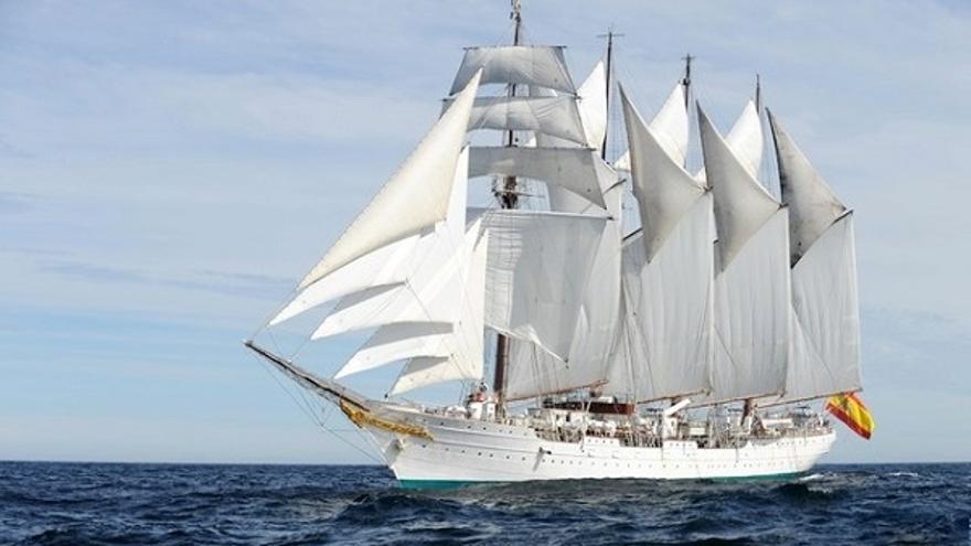 El Juan Sebastián Elcano arribará la capital el 5 de diciembre.