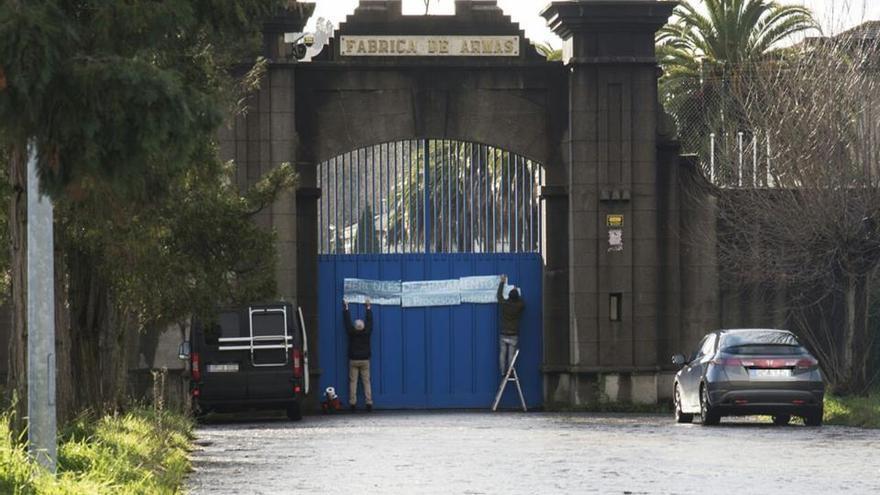 Accesos de la antigua fábrica de armas de A Coruña tras la concesión a Hércules de Armamento