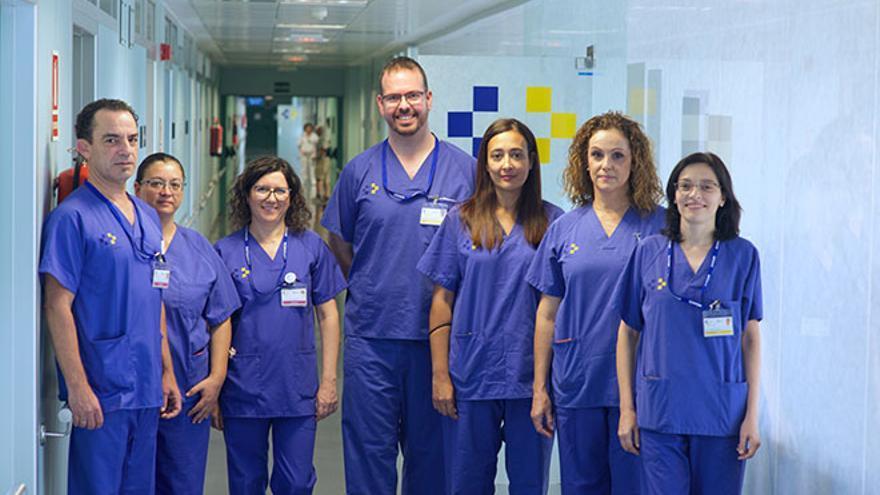Equipo del programa de detección precoz de cáncer de colon en el Hospital General de Fuerteventura.