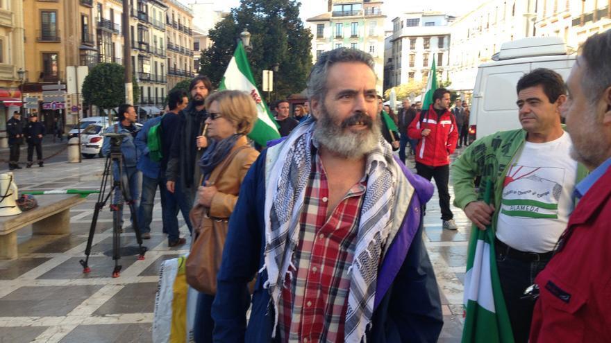 """Sánchez Gordillo niega que se desafiara al TSJA al protestar en el juicio de Las Turquillas y critica """"represión"""" al SAT"""