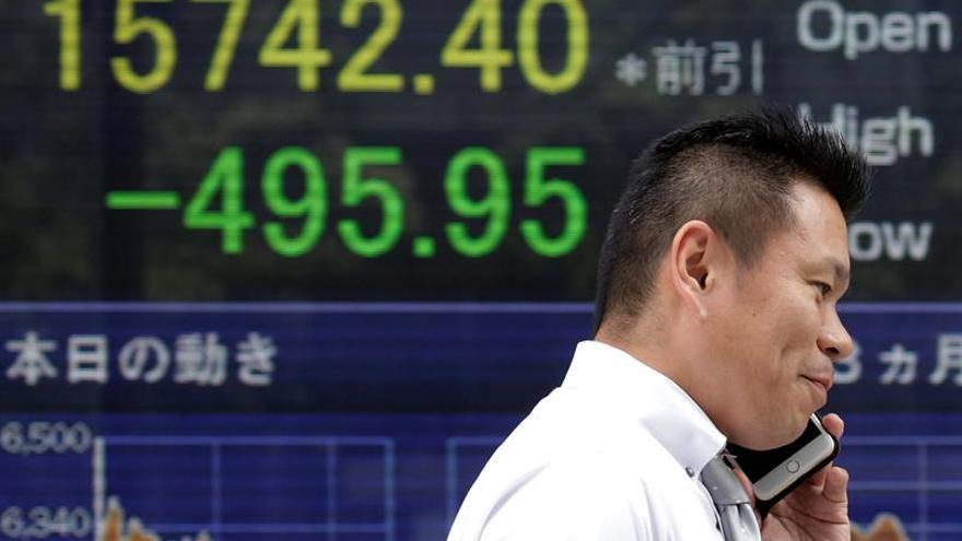 El Nikkei sube más de un 4 % en el último tramo de la sesión