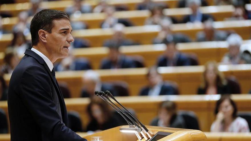 Pedro Sánchez afronta hoy su última sesión de control en el Senado