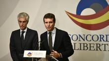 """Casado denuncia que Sánchez permita a Iglesias negociar con Puigdemont y Junqueras: """"Lo más digno es ir a elecciones"""""""