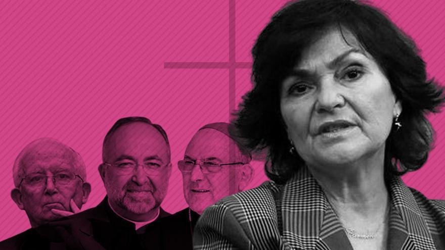 La vicepresidenta Calvo y su enfrentamiento con la Iglesia.