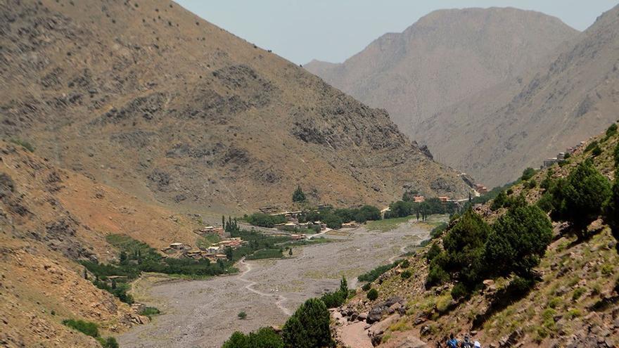 Valle de Imlil al fondo.