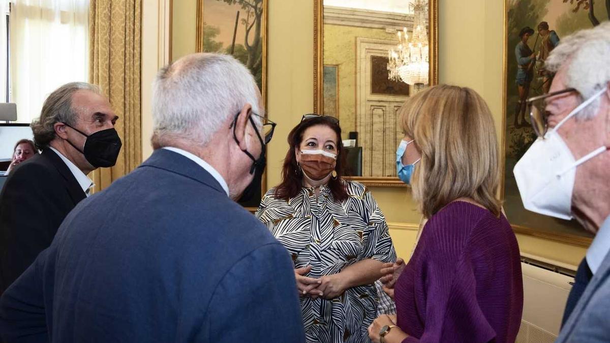 La consejera de Educación, Manuela de Armas, en la Conferencia Sectorial en Madrid. (Consejería de Educación)