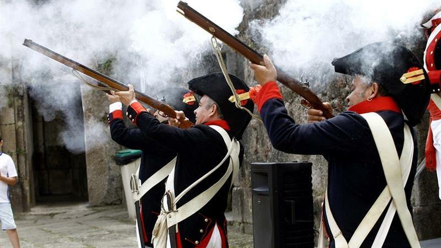 Ferrol recrea la batalla de Brión en la que vencieron a los ingleses