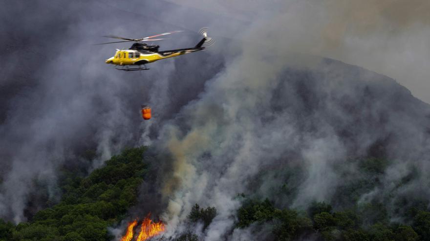 Un incendio en Folgoso (Lugo) quema 70 hectáreas