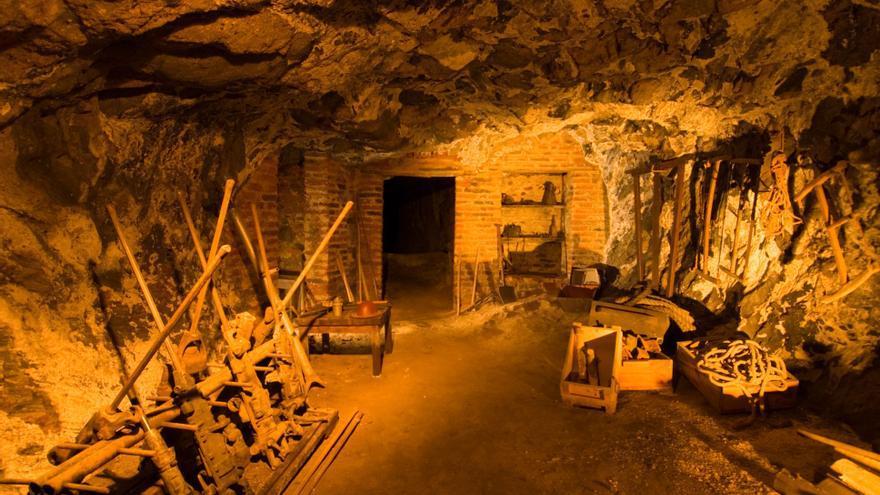 Interior de la mina de Almadén, hoy dedicada a visitas turísticas