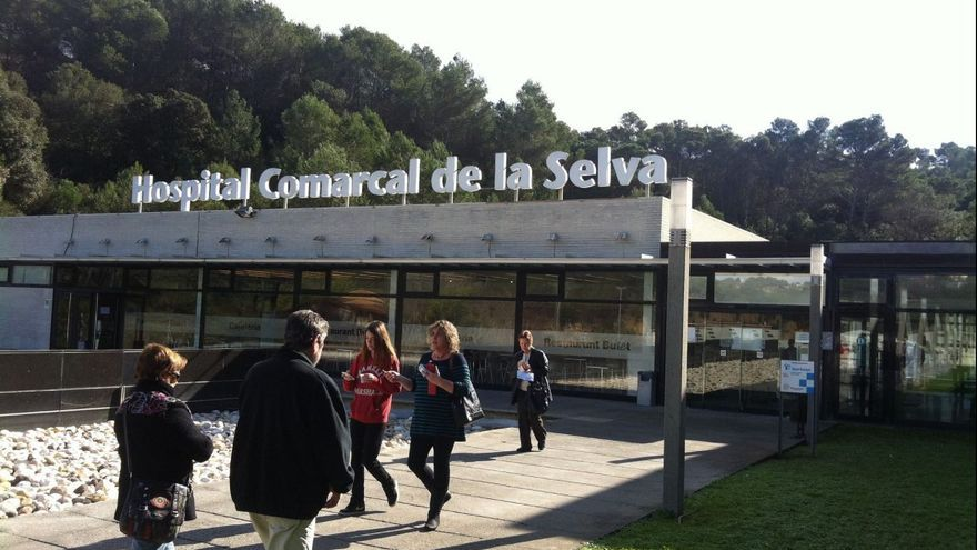 Entrada del Hospital Comarcal de la Selva, en Blanes (Barcelona)