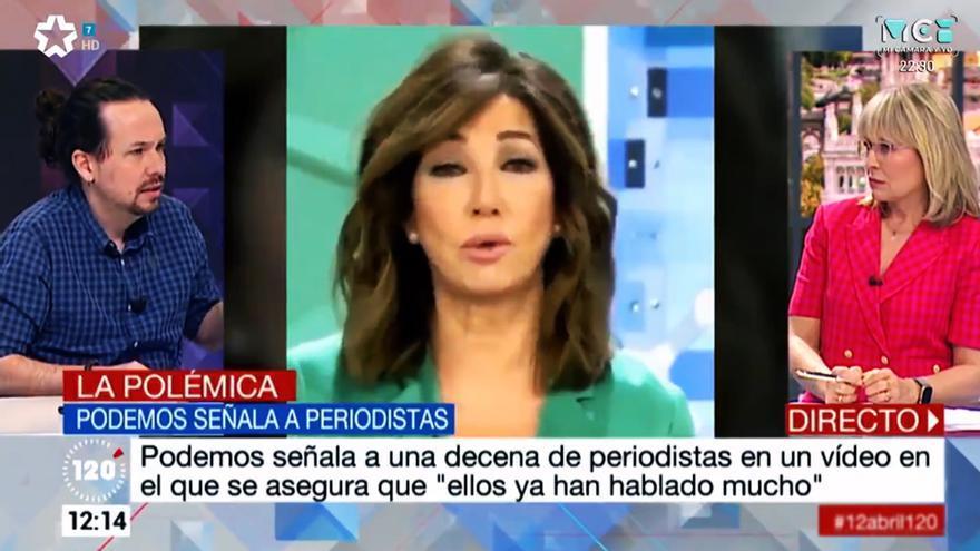 Pablo Iglesias ante María Rey en '120 minutos'