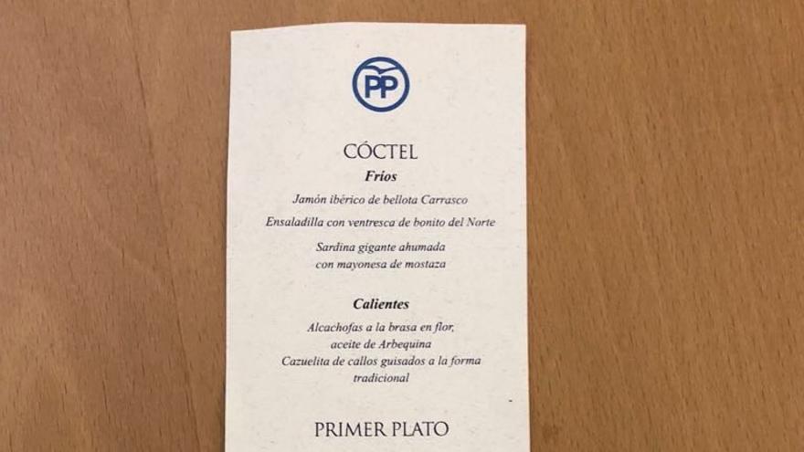 El menú de Mariano Rajoy y sus barones.