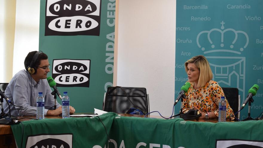 Verónica Samperio, alcaldesa de Piélagos, en el Ayuntamiento.