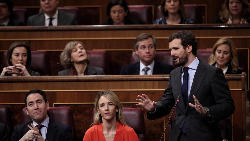 """Casado reclama a Sánchez dejarse de """"mentiras"""" tras ordenar el juez guardar las cintas de Barajas sobre el 'caso Ábalos'"""