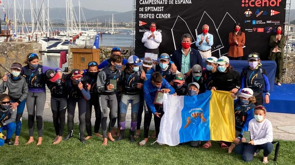 Selección canaria que compitió esta semana en Galicia.