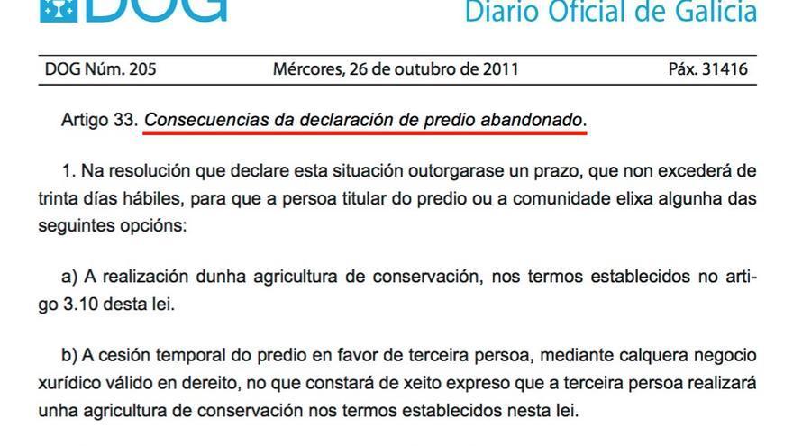 Ley de movilización de tierras aprobada por el PP en 2011